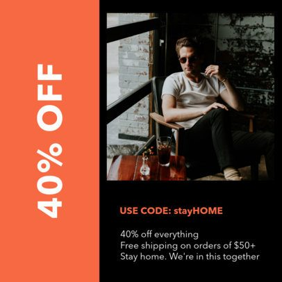 Coupon Design Template for a Stay-At-Home Discount 1026f--2461