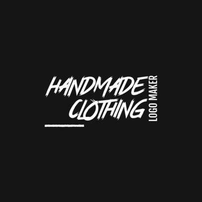 Logo Maker for a Handmade Clothing Brand with a Modern Typeface 3149a
