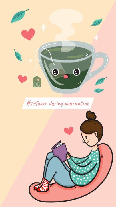 Instagram Story Creator About Selfcare During Quarantine 587g-2461