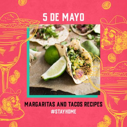5 de Mayo-Themed Instagram Post Template 2437d