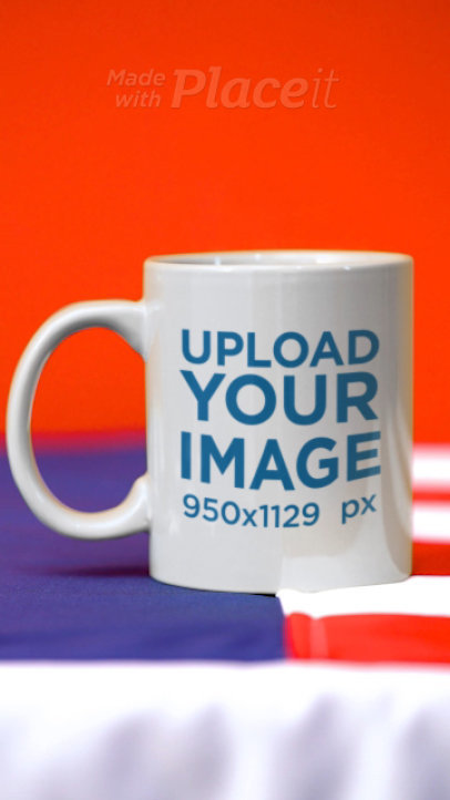 Video of a Coffee Mug and an American Flag 33785