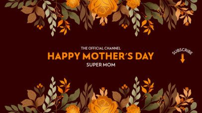 Mother's Day YouTube Banner Maker Featuring Floral Designs 2454