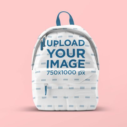 Backpack Mockup Featuring a Customizable Background 3535-el1