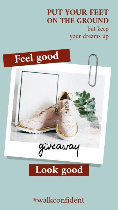 Instagram Story Design Maker for a Fashion Giveaway 921a-el1