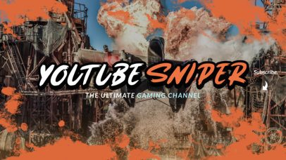 YouTube Banner Maker for a Gaming Channel Featuring Textured Graphics 2450