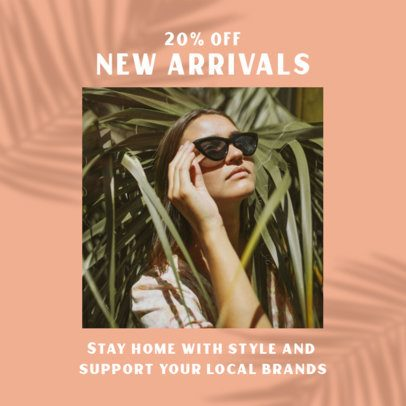 Minimal Instagram Post Maker for a Local Store With a Tropical Vibe 2456t
