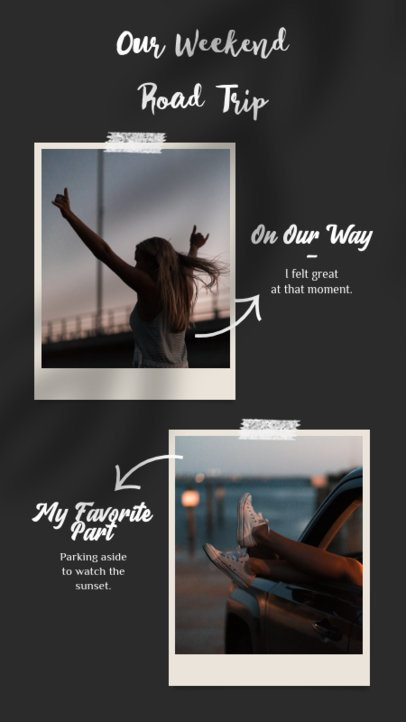 Instagram Story Template for Your Road Trip Photos 923c-el1