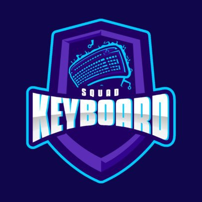 Logo Template for a Gaming Squad Featuring a Computer Keyboard Graphic 866b-el1