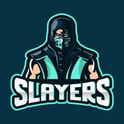 Cool Logo Maker for Gamers Featuring a Masked Assassin Illustration 866c-el1