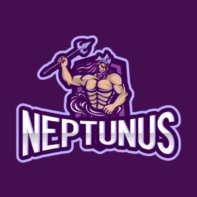 Logo Maker for Gamers Featuring an Illustration of Neptune 866f-el1