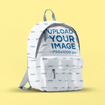 Mockup of a Backpack Placed on a Solid Surface 3536-el1