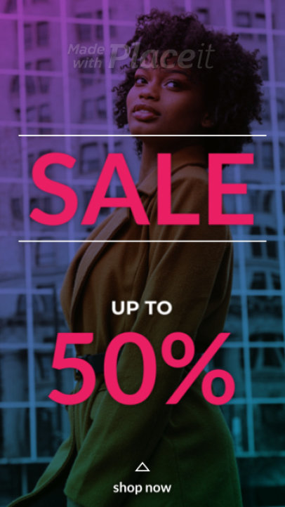 Instagram Story Video Template for a Fashion Sale Featuring Sliding Animations 1529-el1