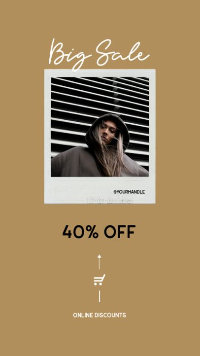 Minimal Instagram Story Template for a Special Fashion Sale 932a-el1