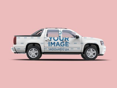 Mockup Featuring a Car Decal on a Pickup Truck 3598-el1