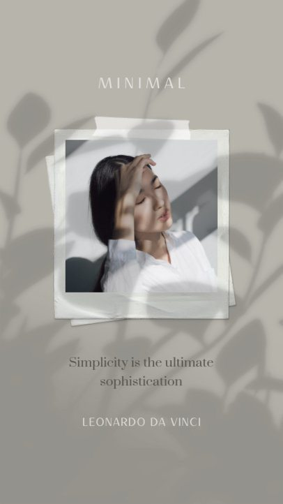 Minimal Instagram Story Generator With a Quote on Simplicity 2455q