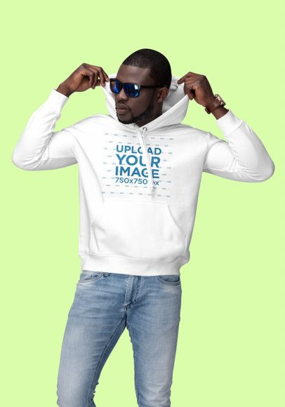 Pullover Hoodie Mockup Featuring a Stylish Man in a Studio 1806-el1