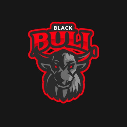 Gaming Logo Template with an Aggressive Bull Graphic 890a-el1