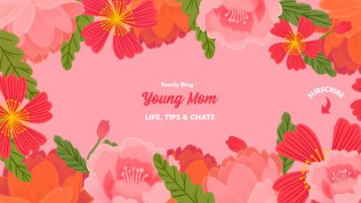 Floral-Themed YouTube Banner for a Mom Dedicated Channel 2454a