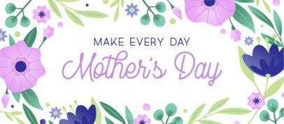 Simple Template for a Mother's Day Facebook Cover Design 2453a