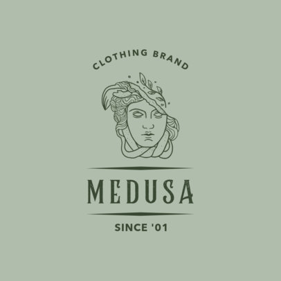 Clothing Brand Logo Maker Featuring a Medusa Outline Drawing 3173d