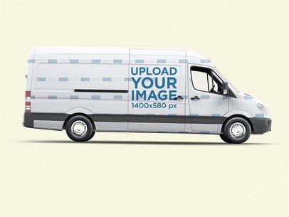 Van Wrap Mockup With a Plain Color Background 3626-el1