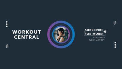 Modern YouTube Banner Maker for a Fitness Channel 941-el1