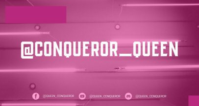 Simple Twitch Banner Template for Female Gamers 2448g