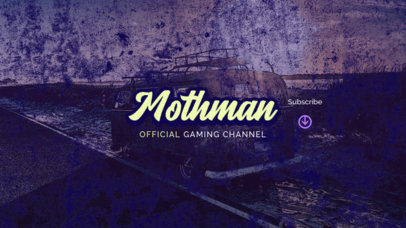 Gaming Channel YouTube Banner Template with an Old-Picture Effect Texture 2450h