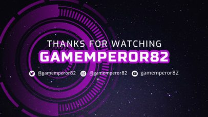 Twitch Offline Banner Creator with a Futuristic Layout 2449f