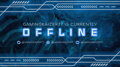 Twitch Offline Banner Template with a Technological Vibe 2449h