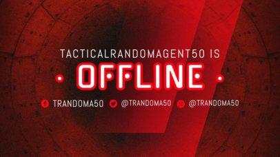 Twitch Offline Banner Maker with Traslucid Graphics 2449i
