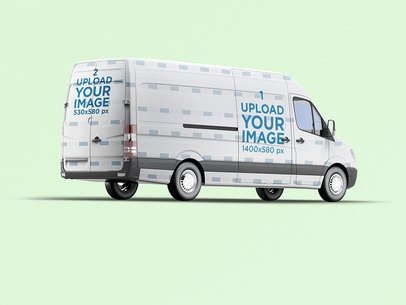 Van Wrap Mockup With a Plain Color Backdrop 3628-el1
