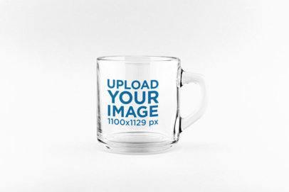 Mockup Featuring an 11 oz Clear Glass Mug  33386