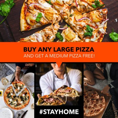Ad Banner Generator Featuring a Pizza Limited-Time Promo 1053h 2479