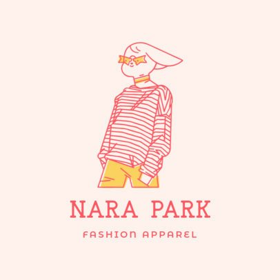 Illustrated Logo Template for Fashion Brands Featuring a Character With an Alternative Style 3169f