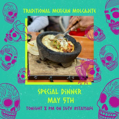 Instagram Post Generator for a 5 de Mayo Dinner 2437f