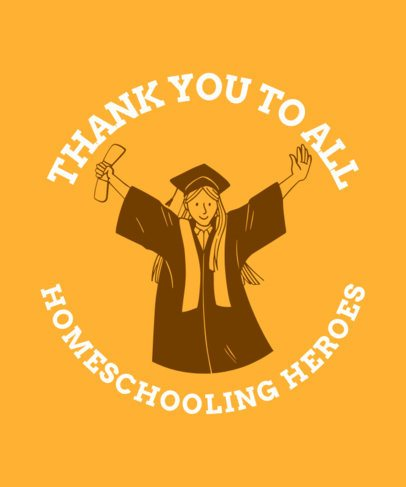 Graduation-Themed T-Shirt Design Maker For Homeschooled Students 2305g 2479