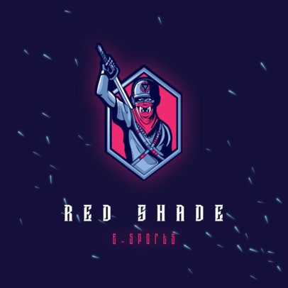 Logo Maker for an eSports Team with a Warrior Character 3165k