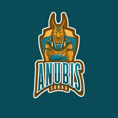Gaming Logo Generator with an Anubis Graphic 1028c-el1