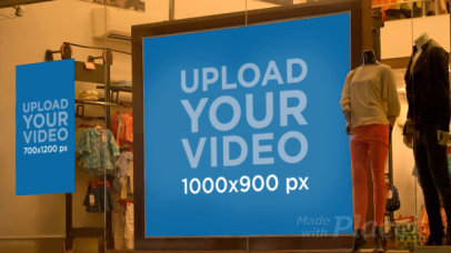 Video of a Poster and a Billboard in a Clothing Store Window Display 34378