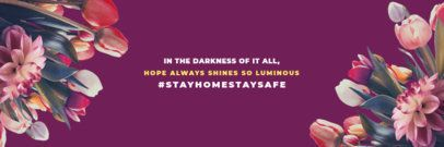 Twitter Header Maker for a Stay at Home Positive Quote 1095f 2479