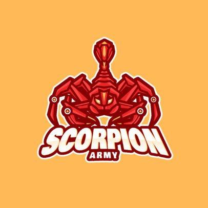 Gaming Logo Maker with a Robotic Scorpion Clipart 981d-el1
