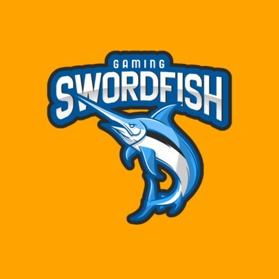 Gaming Logo Creator with an Aggressive Swordfish Graphic 1055d-el1