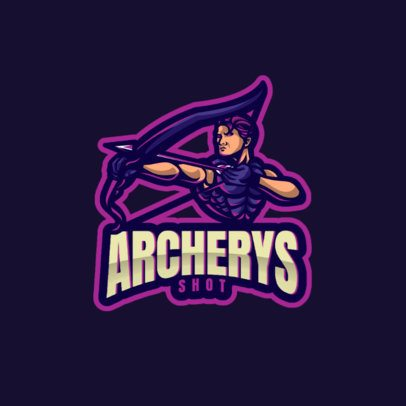 Gaming Logo Maker Featuring an Archer Character 1063a-el1