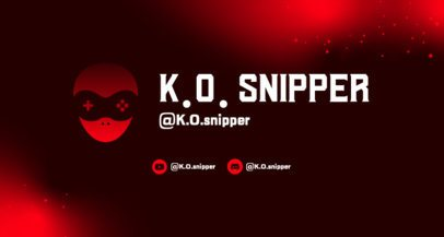 Simple Twitch Banner Template for Gamers Featuring a Controller Illustration 2469n