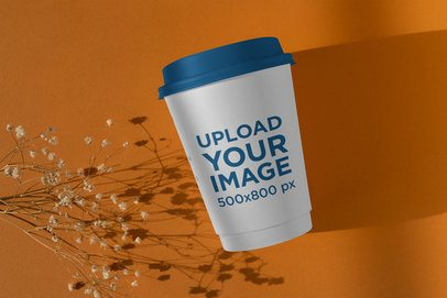 Coffee Cup Mockup Featuring Side Lighting  3771-el1