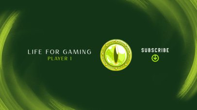 Gaming YouTube Banner Creator with a Reptile Eye Icon 2470s