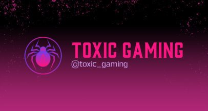 Twitch Banner Design Template with Toxic-Looking Graphics 2469r