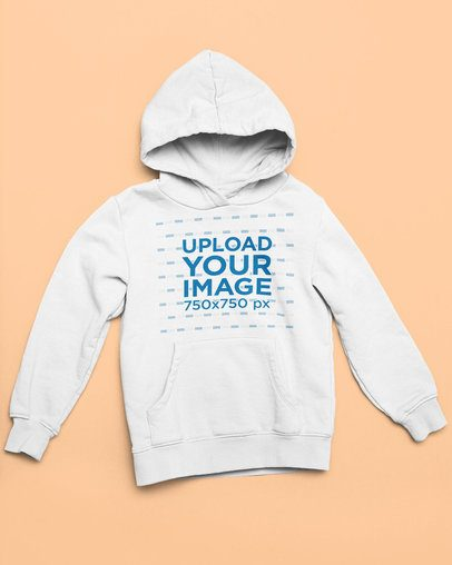 Mockup of a Pullover Hoodie Placed Against a Solid Surface 33891