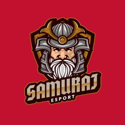 Logo Template for an eSports Team with a Samurai Face 1084a-el1